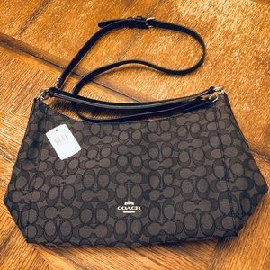 COACH Black Smoke Adjustable Shoulder Bag 🖤NWT🖤